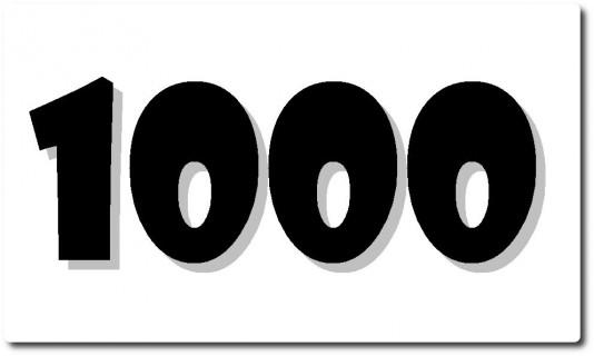 1000. Beitrag !