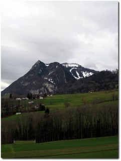 Der erste Schnee auf dem Balmberg
