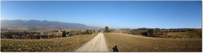 Panoramablick oberhalb von Leuzingen