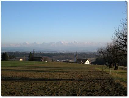 Blick rüber zu den Alpen