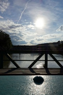 Aarebrücke im Abendlicht