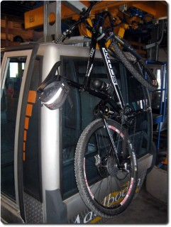 Gondelbahn Sillerenbühl Bike-Aufhängevorrichtung