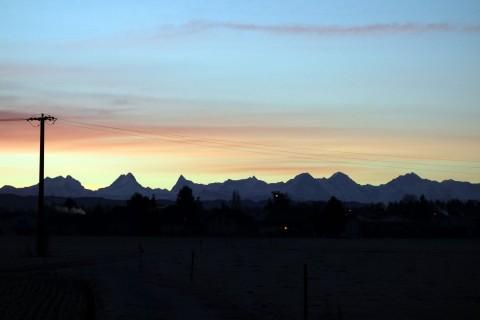 Morgenstimmung mit Alpen