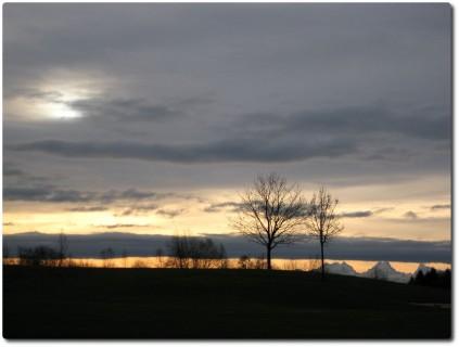 Morgenblick auf die Alpen