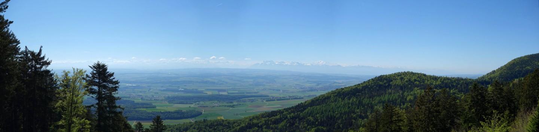 Mont Blanc Panorama - 1. Jurakette