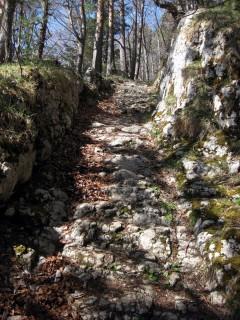 Aufstieg Grandval - Mont Raimeux - Historischer Karrweg
