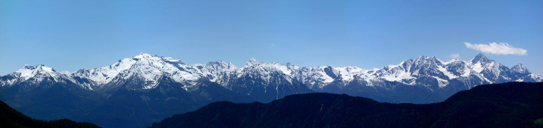 Gipfelpanorama Aostatal