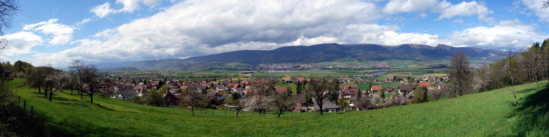 Panorama Jura bei Arch