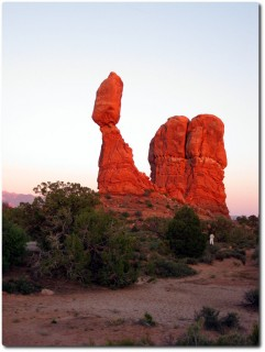 Arches Nationalpark im Abendrot
