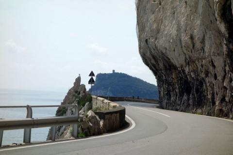Zurück nach Finale Ligure auf der Via Aurelia