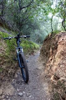 Ziemliche ausgewaschene Trails ;-)
