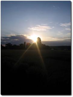 Arbeitsweg - Sonnenaufgang