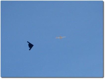 Überflug eines B2 Bombers