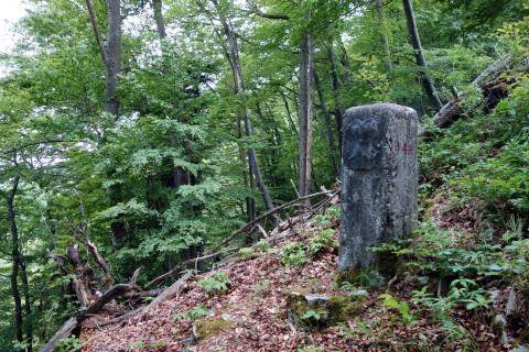 Grenzstein auf dem Bachtelenberg