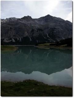 Lago di San Giacomo di Fraéle und Abzweiger in Richtung Val Trela