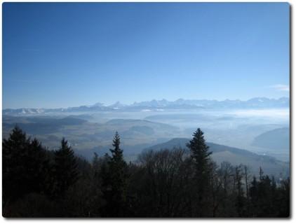 Alpenpanorama auf dem Bantiger