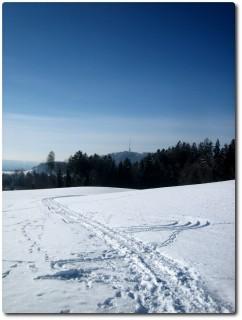 Blick auf den Bantiger - Winterzeit