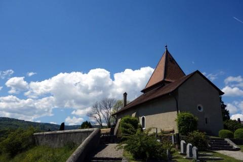 Kirche und Aussichtspunkt in Bassins