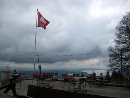 Terrasse Restaurant Bözingenberg - Blick zu den Drei Seen