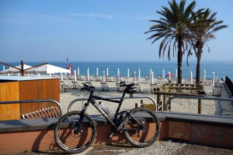 Strand und Bike