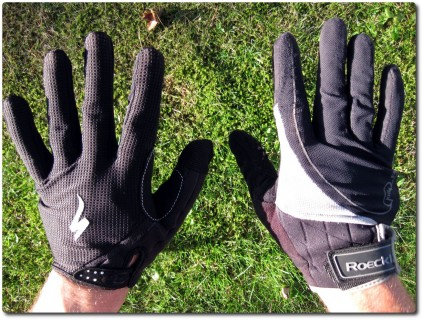 MTB Handschuhe Alt und Neu - Aussen