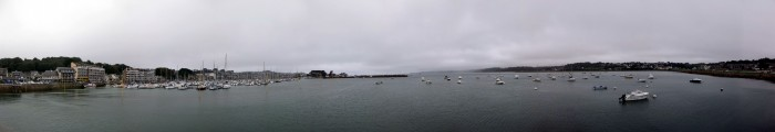 Panorama Hafen Perros-Guirec - Flut