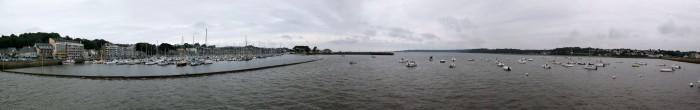 Panorama Hafen Perros-Guirec - fast Flut