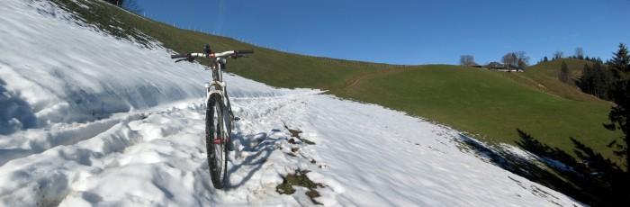 Napf Bike Route - wenig Schnee