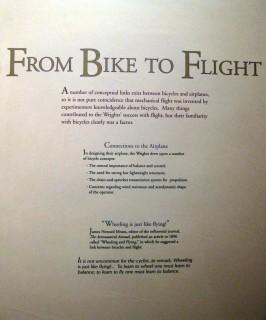 Vom Fahrrad zum Flugzeug