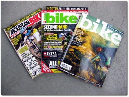 Lesenachmittag mit diversen Bikemagazinen