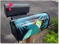 Amerikanische Briefkästen Standardmodell bemalt