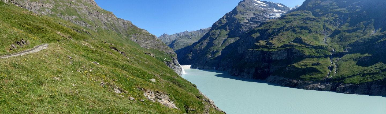 Blick zurück zum Lac de Mauvoisin
