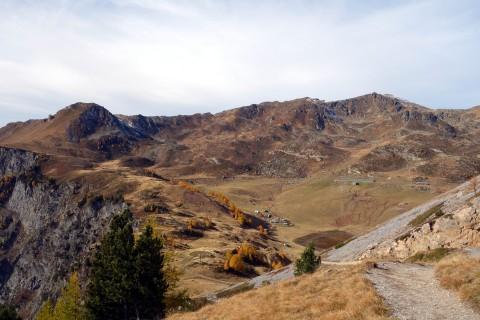 Blick zurück zum Montagne de Fully