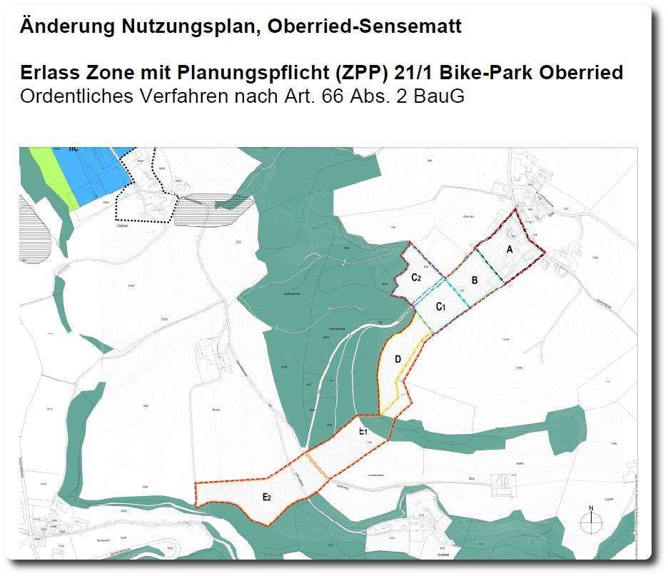 Nutzungsplan Bike-Park Oberried