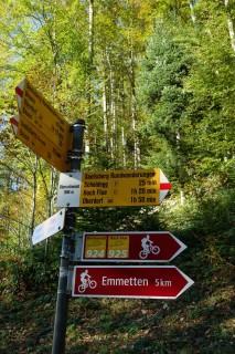 Bike Arena Emmetten - Wegweiser