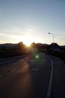 Sonnenaufgang in Brittnau