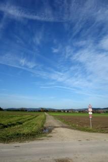 Zwischen Bern und Thun übers freie Feld