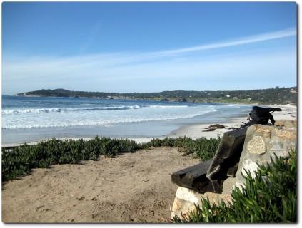 Traumbänkli am Strand von Carmel