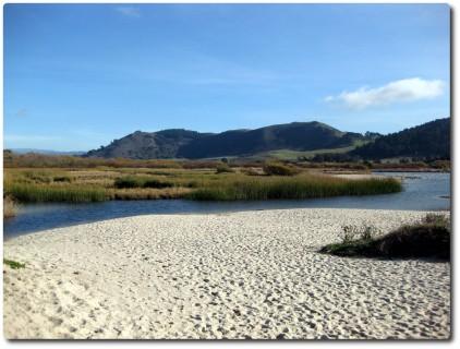 Lagune hinter der Bucht von Carmel