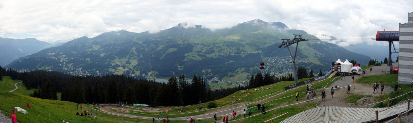 Panorama Start Downhill Weltcup Lenzerheide