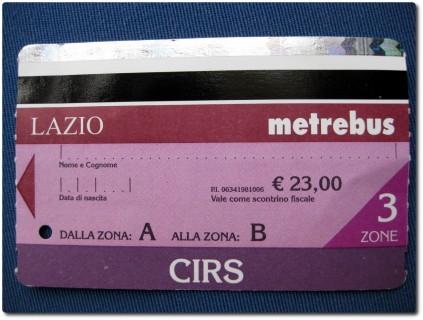 CIRS - Regionalticket Rom