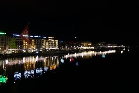Cité de Genève bei Nacht
