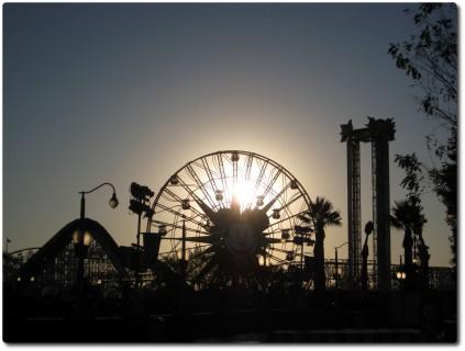 California Adventure Park - Sonnenuntergang