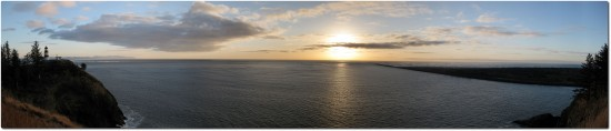 Panorama Columbia River Mündung am Cape Disappointment
