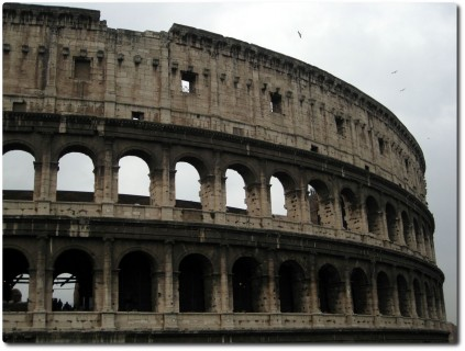 Colosseo bei Regen