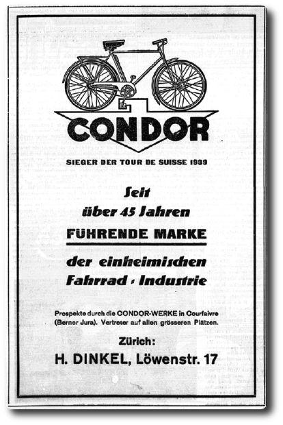 Condor Werbung von 1940