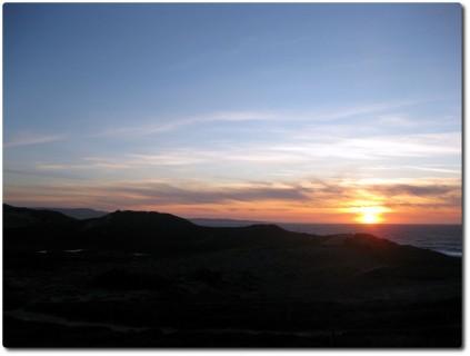 Sonnenuntergang Coastal Trail