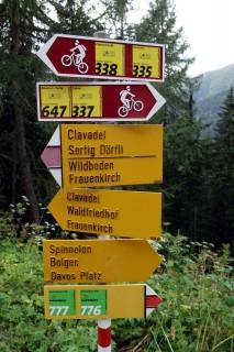 Davoser Bikerouten - Gut beschildert