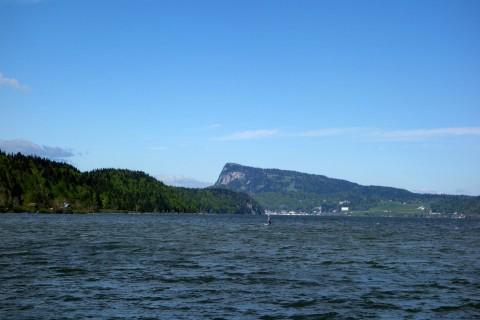 Blick über den Lac de Joux zum Dent de Vaulion