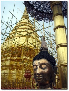Chedi in Renovation - Wat Doi Suthep, Chiang Mai